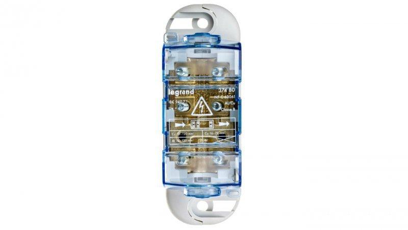 Blok rozdzielczy 1-biegunowy 300A 120mm2 Al, 70mm2 Cu 037480