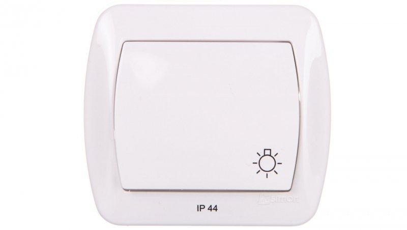 Simon Akord Przycisk bryzgoszczelny /światło/ IP44 biały AS1B/11