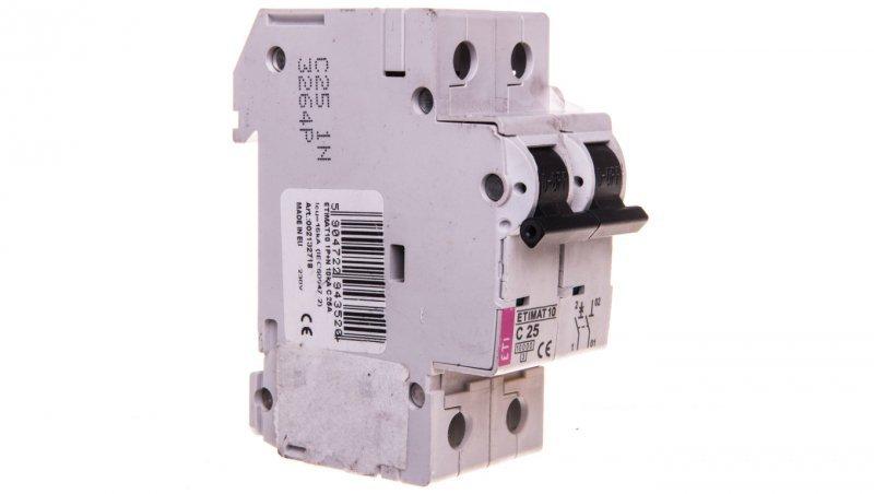 Wyłącznik nadprądowy 1P+N C 25A 10kA AC ETIMAT10 002132718