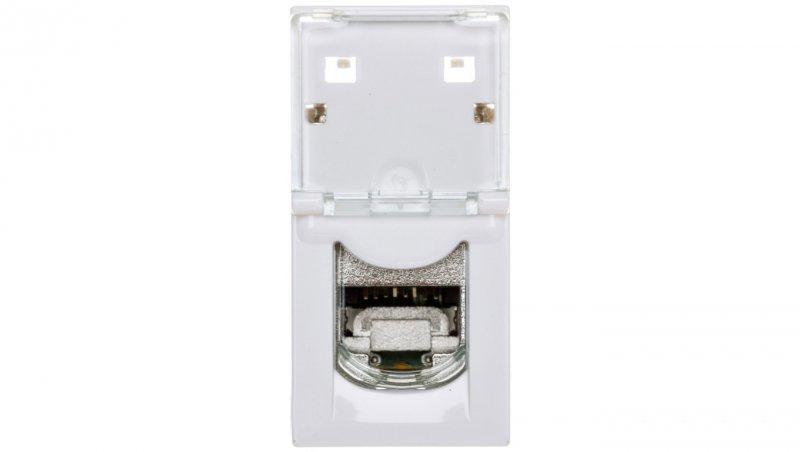 MOSAIC Gniazdo komputerowe pojedyncze RJ45 kat.6a STP 1M białe 076573