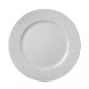 Talerz porcelanowy biały 27 cm wzór 2