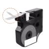 5x Taśma do DYMO D1 43613 7m 6mm biało czarna zamiennik GP-DY43613 x5