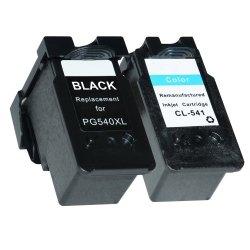 2x Tusze do Canon PG-540XL CL-541XL Pixma MG2150 MG3150 MG3250 MG3550 MX375 - zamiennik GP-C540/541XL BK+CMY Zestaw