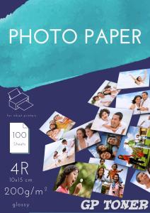 Papier Fotograficzny Błyszczący 10x15 4R 200g 100 szt PAP-4R-FOTO200 x2