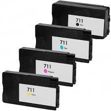 4x Tusz Zamiennik HP Designjet T120 T520 CZ133A-32 - GP-H711CMYK ZESTAW