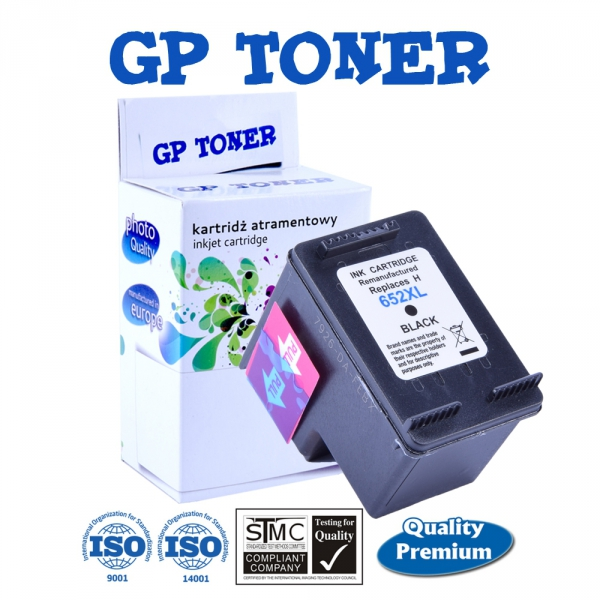 Tusz do HP 652 XL Deskjet Ink Advantage 1115 2135 2136 3635 3775 3785 3835 4535  - zamiennik GP-H652XLBK Czarny