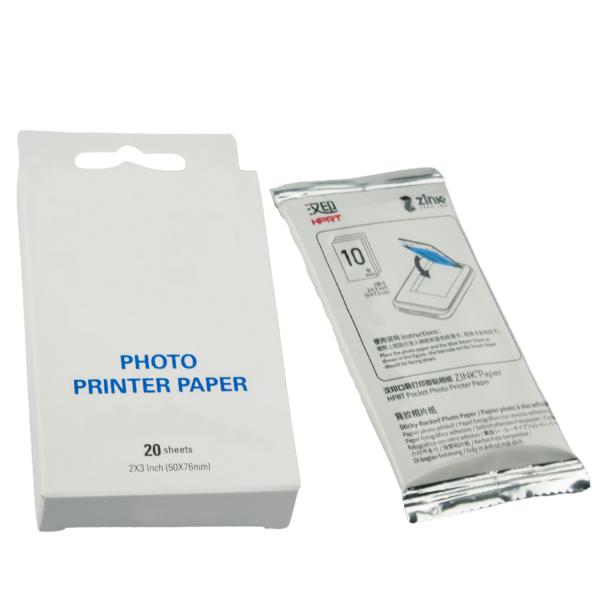 10x Papier fotograficzny ZINK do drukarek wkłady