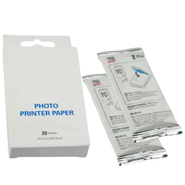 20x Papier fotograficzny ZINK do drukarek wkłady