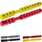 TUNIRO - dwa liczniki manualne kostki do piłkarzyków, czerwony-żółty