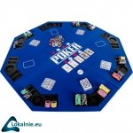 Składana mata do pokera - niebieska