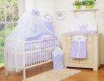 Pościel 11-cz z moskitierą- Little Prince/Princess fioletowa