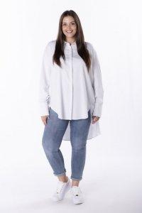 koszula oversize z wydłużonym tyłem