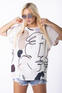 bluzka oversize z printem