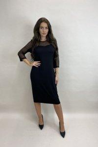 sukienka z tiulowym wykończeniem