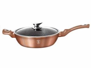 PATELNIA GRANITOWA 28CM BERLINGER HAUS METALLIC LINE ROSEGOLD BH-1518-N