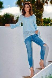 Asymetryczny sweter damski LS200