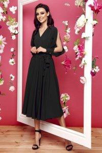 Sukienka z długimi rozciętymi rękawami L295