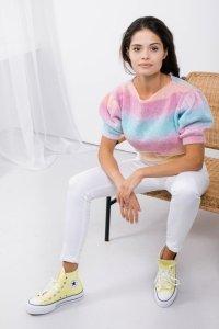 Sweter tęcza LS336