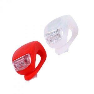 Silikonowe lampki rowerowe - 2szt