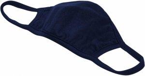 Maska dwuwarstwowa bawełniana - niebieska 2 szt