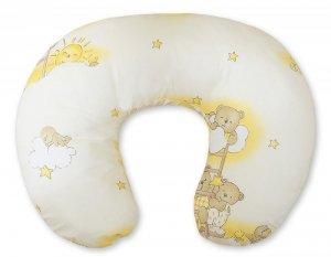 Poduszka rogal- Fasolka do karmienia- Basic drabinki kremowe