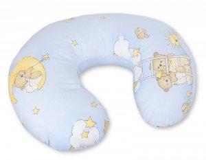 Poduszka rogal- Fasolka do karmienia- Basic drabinki niebieskie