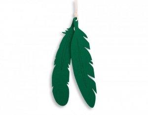 Dekoracyjne pióra z filcu 2szt. - zielony