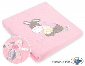 Kocyk polarowy- Osiołek Lucek różowy