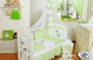 Pościel 7-cz z moskitierą- Osiołek Lucek zielony