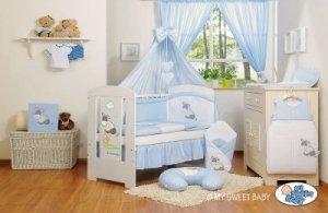 Pościel 11-cz z baldachimem- Osiołek Lucek niebieski