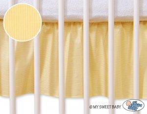 Falbanka maskująca 120x60cm- Osiołek Lucek żółty