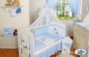 Moskitiera z szyfonu- Osiołek Lucek niebieski