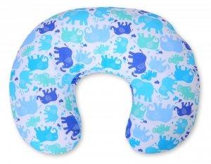 Poduszka do karmienia- Słonie niebiesko-granatowe