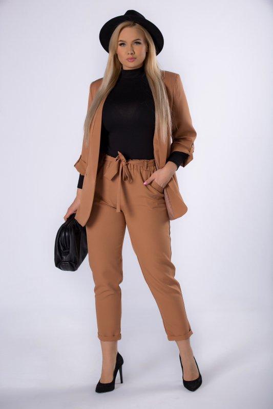 spodnie z talią paper bag