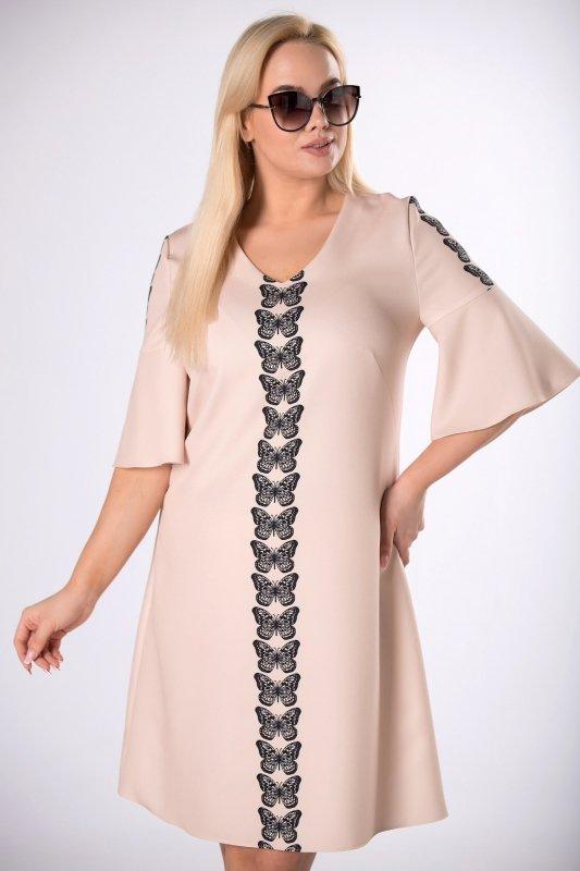 koktajlowa sukienka w motyle