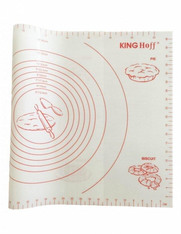 STOLNICA SILIKONOWA 60x40cm MATA KUCHENNA BIAŁA KINGHOFF KH-1537