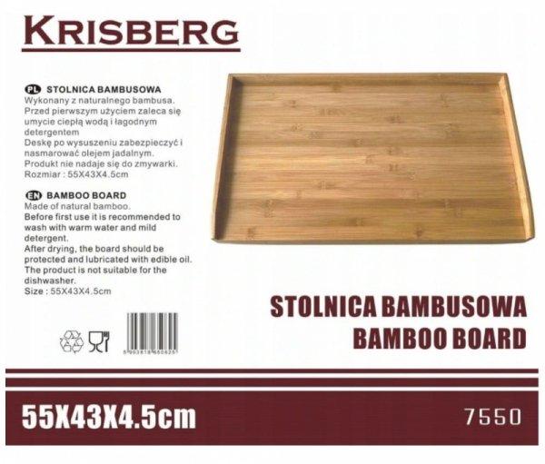 STOLNICA BAMBUSOWA 55x43cm KRISBERG KS-7550
