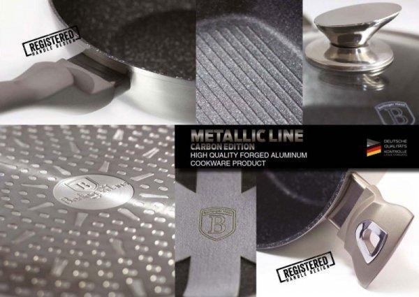 ZESTAW 3 PATELNI GRANITOWYCH 20/24/28CM BERLINGER HAUS METALLIC LINE CARBON BH-1274-N