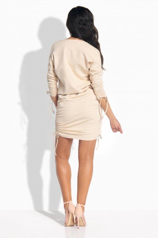 L182 Elegancka sukienka ze ściągaczami