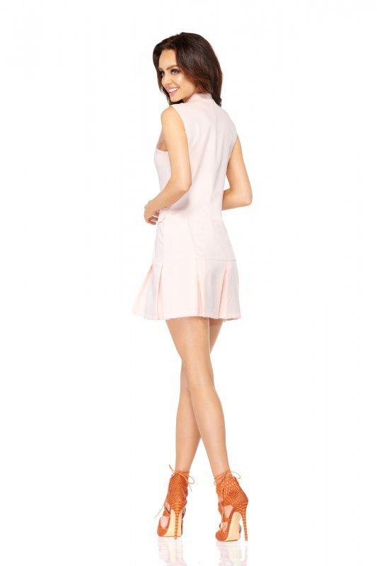 Marynarkowa sukienka  bez rękawów L305