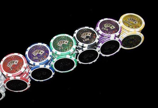 Zestaw do pokera Ocean Black Edition 500 szt żetonów