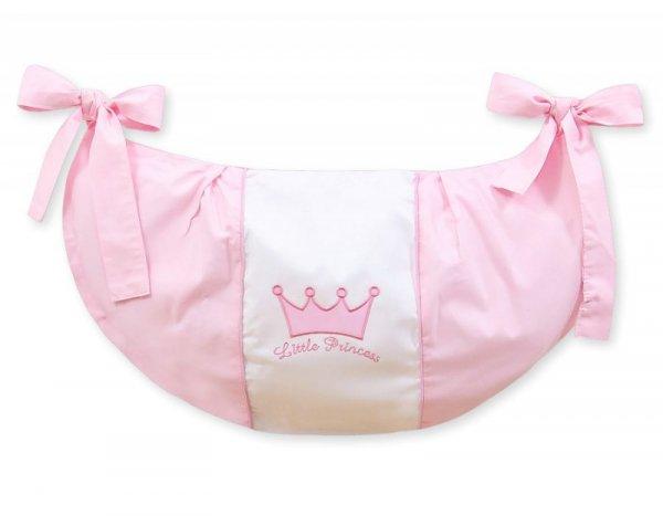 Przybornik- Torba na zabawki- Little Prince/Princess różowe