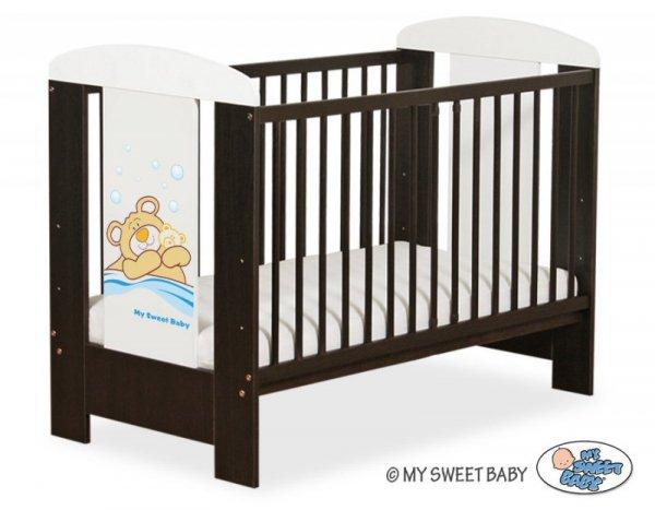 Łóżeczko 120x60cm Miś Barnaba niebieski nr 5005-04-803