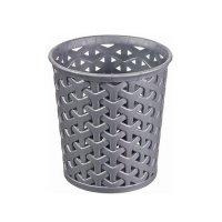 Koszyk My Style L okrągły srebrny