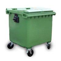 Pojemnik na odpady1100L z pokrywą czarny