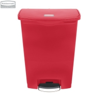 Kosz Slim Jim® Step-On 90L Resin Containers red