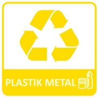 Etykieta do segregacji PLASTIK METAL NEW