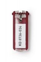 Zawieszki do kluczy DURABLE czerwone (6)