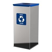 Kosz do segregacji odpadów EKO SQUARE PRESTIGE 60L papier