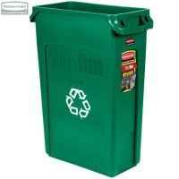 Kosz Slim Jim® With Venting 87L green